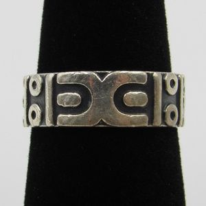 Vintage Size 6.5 Sterling Rustic Unknown Band Ring